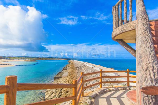 Agua nubes paisaje océano azul Foto stock © shihina