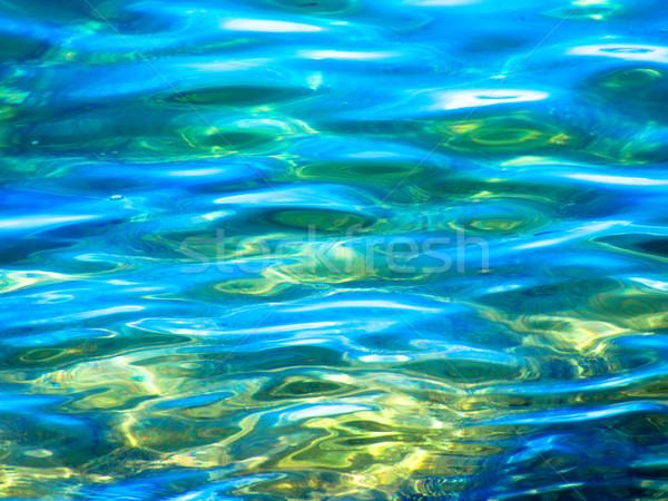 Playa agua textura naturaleza fondo verde Foto stock © shihina