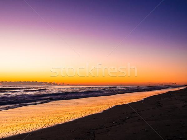 オレンジ 日の出 色 ロングビーチ 行 雲 ストックフォト © shihina