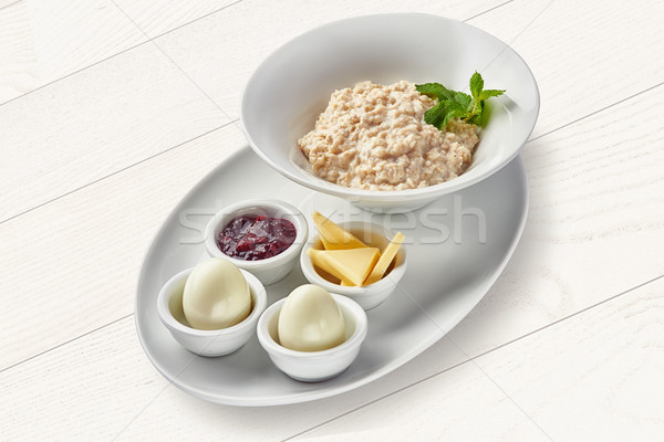 Inglês café da manhã ovos saúde beleza grão Foto stock © shivanetua