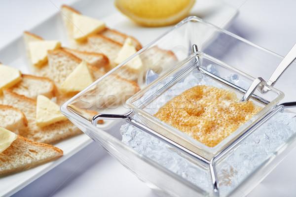 Reggeli friss kaviár jég ebéd luxus Stock fotó © shivanetua