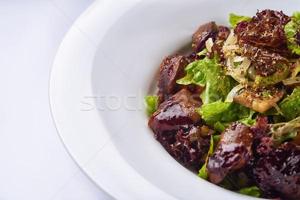 Quente salada frango fígado branco queijo Foto stock © shivanetua