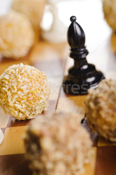 Xadrez bolo convés desejo descobrir festa Foto stock © shivanetua