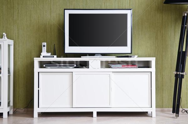 Stock photo: TV-set in home interior