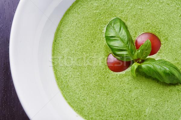 Espinafre manjericão folhas tomates folha legumes Foto stock © shivanetua