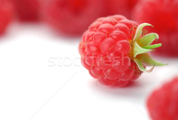 Framboises vert image une fruits Photo stock © shyshka