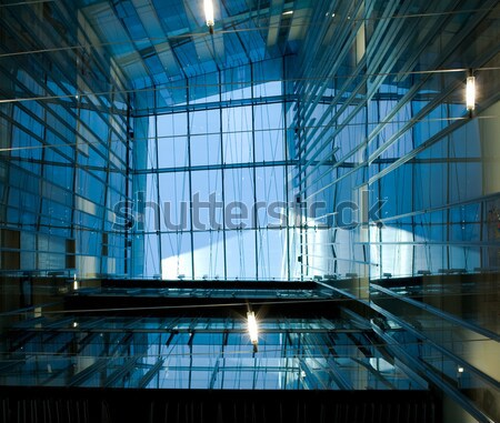 View at a modern architectural structure Stock photo © shyshka