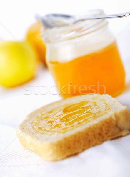 Toast miel fraîches vue pain Photo stock © shyshka