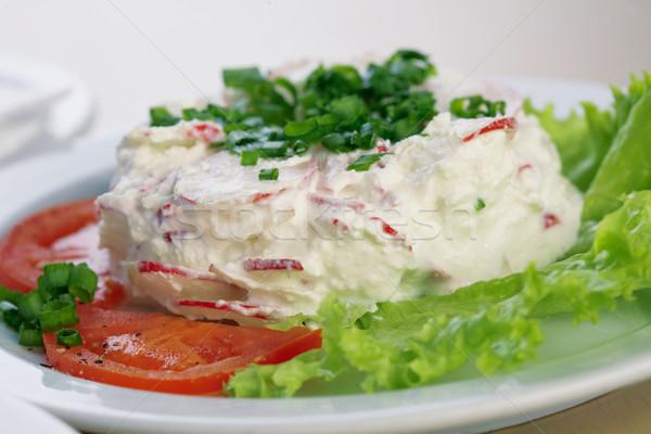 Saláta retek majonéz közelkép kép saláta Stock fotó © shyshka