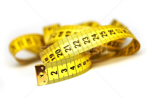 Jaune mètre à ruban bande plastique macro nombre Photo stock © shyshka