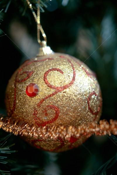 Kerstboom ornament witte christmas lint opknoping Stockfoto © shyshka