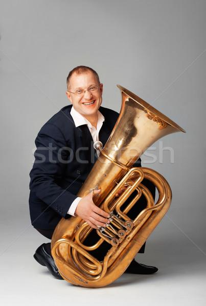 Tuba Player Stock photo © shyshka
