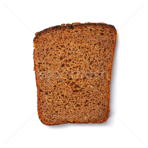 Rogge toast een witte bestand Stockfoto © shyshka