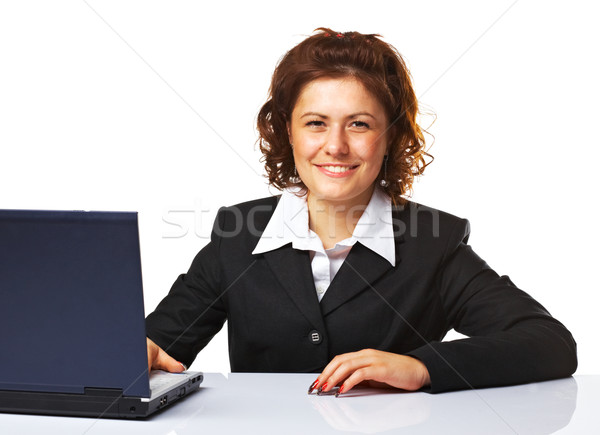 Portrait of a business woman working on a laptop Stock photo © shyshka