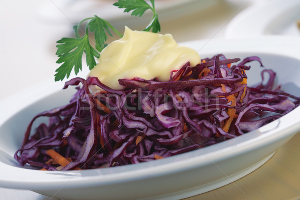Red Cabbage Salad With Mayonnaise. Stock photo © shyshka