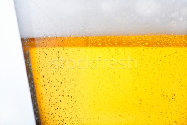 Hideg sör friss üveg víz gyöngyök Stock fotó © shyshka