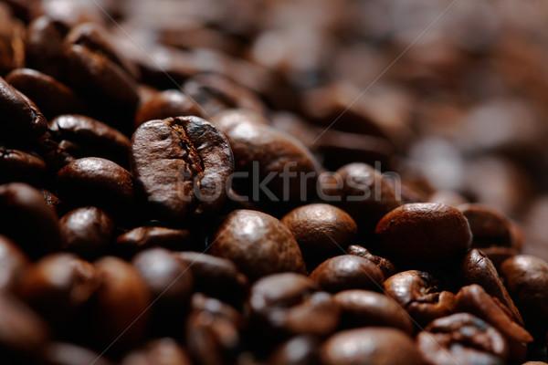 Kahve çekirdekleri seçici odak gıda arka plan uzay nesneler Stok fotoğraf © shyshka