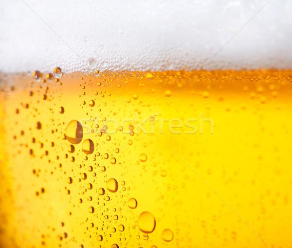 Frio cerveja fresco água pérolas abstrato Foto stock © shyshka