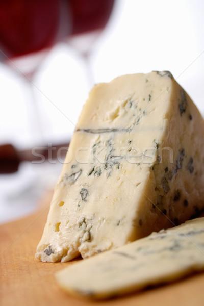 Formaggio vino roquefort soft blu francese Foto d'archivio © shyshka