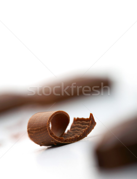 Chocolat blanche pièce fond bonbons Photo stock © shyshka
