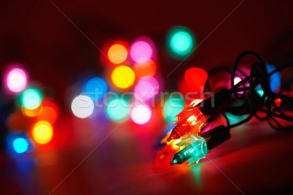 Vacances lumières résumé groupe rouge Photo stock © shyshka