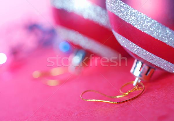 Noël ornements rouge lumière fond cercle Photo stock © shyshka