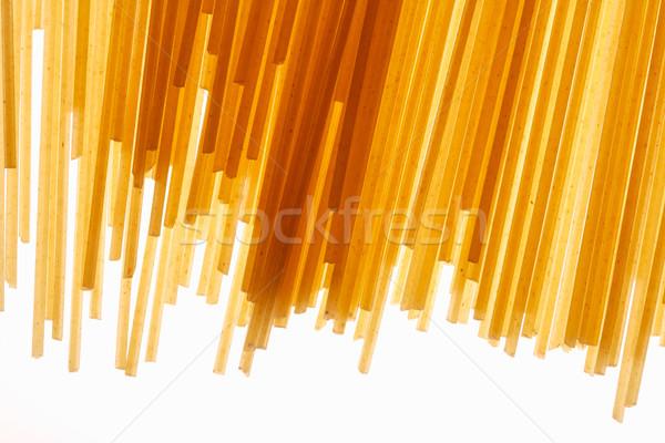 Spaghettis vue pâtes blé Photo stock © shyshka