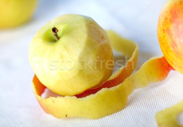 Jaune pomme pelé peau autre pommes Photo stock © shyshka