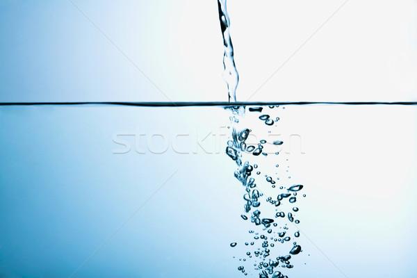 Courir eau bulles bleu mer espace Photo stock © shyshka