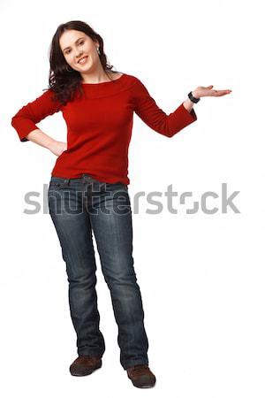 Jonge vrouw afbeelding jonge vrouwelijke Stockfoto © shyshka
