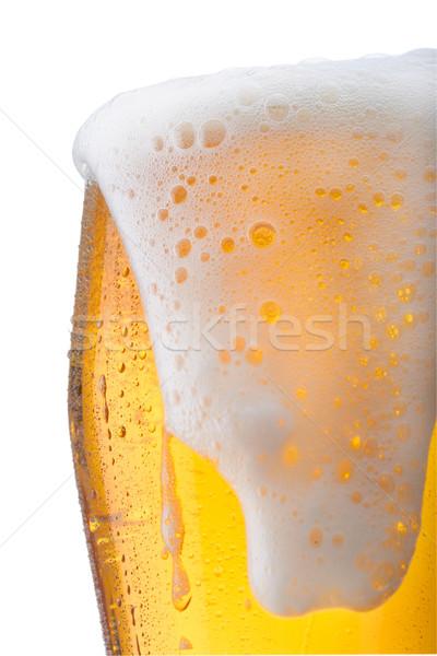 Sör friss üveg víz gyöngyök absztrakt Stock fotó © shyshka