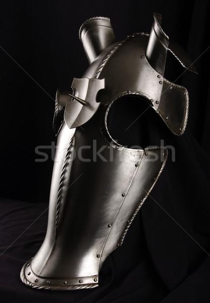 Pantser hoofd paard middeleeuwse ridder Stockfoto © sibrikov