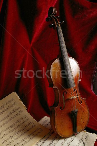 Stock fotó: Hegedű · ősi · hangszer · koncert · siker · hang