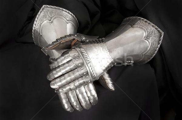 Knight's metal glove Stock photo © sibrikov
