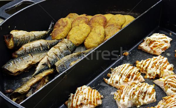 The fried food Stock photo © sibrikov