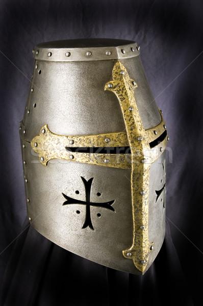Ijzer helm middeleeuwse ridder zwaar Stockfoto © sibrikov