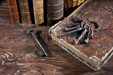 Smart кинжал средневековых солдата используемый охота Сток-фото © sibrikov