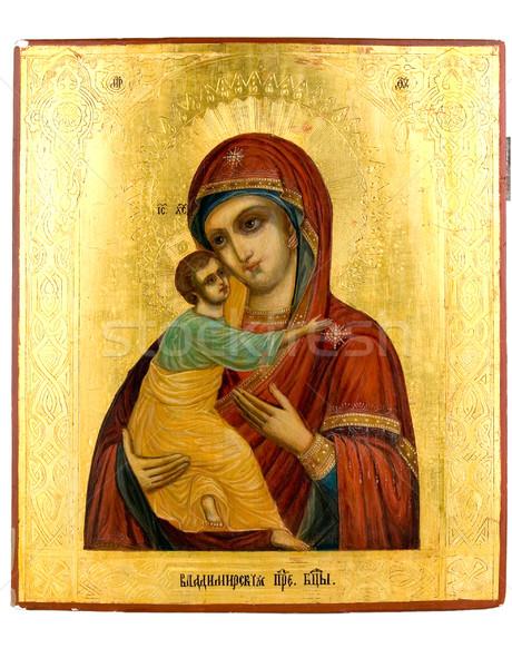 Icona antica chiesa uno bambino vernice Foto d'archivio © sibrikov