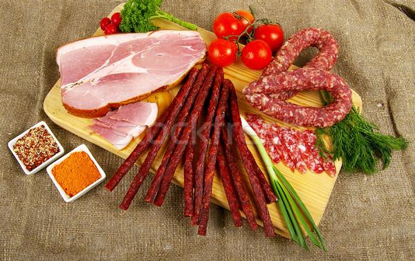 Meat and sausage Stock photo © sibrikov