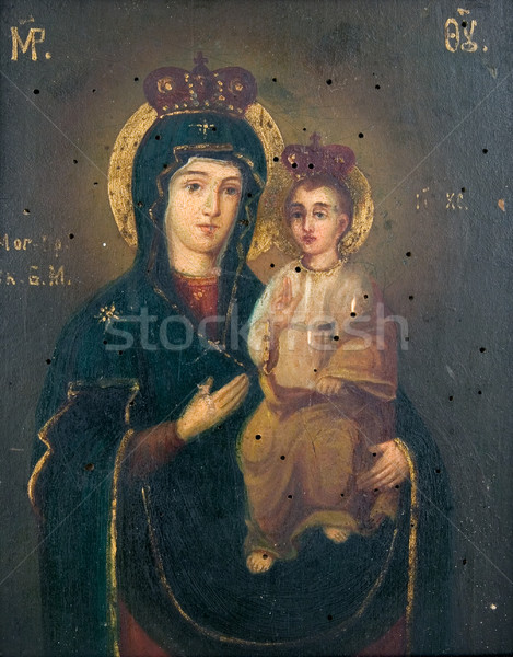 Ancient church icon Stock photo © sibrikov