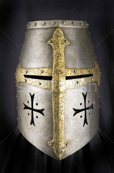 鉄 ヘルメット 中世 騎士 ストックフォト © sibrikov