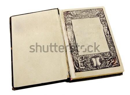古代 図書 革 抽象的な 芸術 黒 ストックフォト © sibrikov