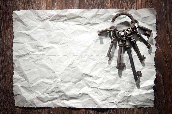 древних ключами открытых различный бумаги ключевые Сток-фото © sibrikov