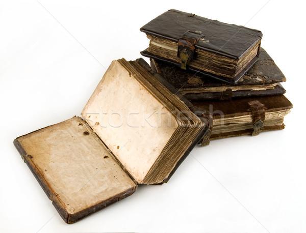 Eski kitap ışık soyut sanat siyah Stok fotoğraf © sibrikov