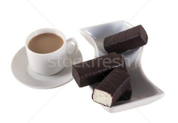 Requesón chocolate queso caloría sabroso alimentos Foto stock © sibrikov