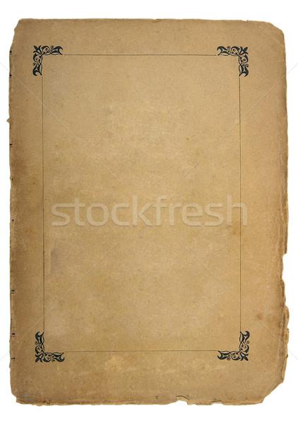 Página antigua libro luz papel textura Foto stock © sibrikov