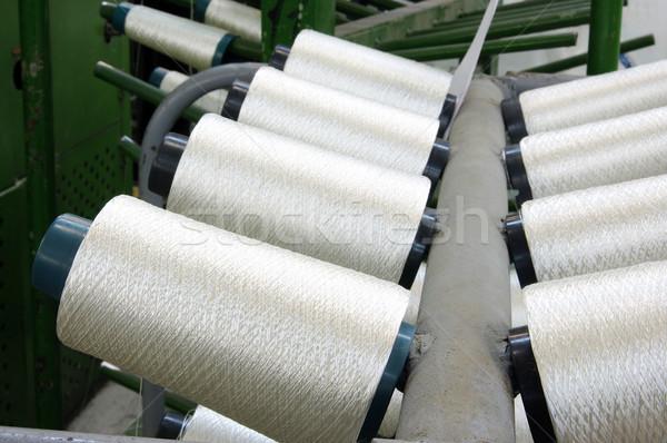 Tela fábrica blanco línea rack Foto stock © sibrikov