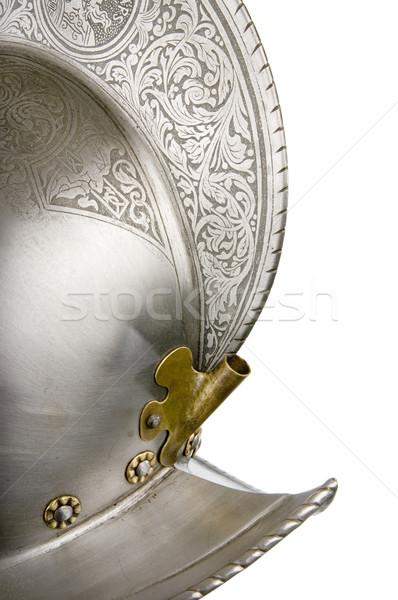 Vasaló sisak középkori lovag nehéz Stock fotó © sibrikov