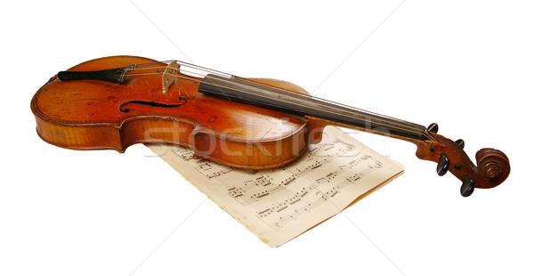 Violín antigua instrumento musical concierto éxito sonido Foto stock © sibrikov