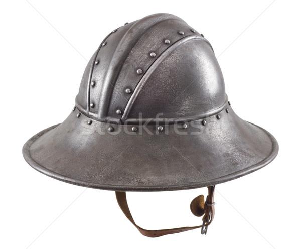 鉄 ヘルメット 中世 騎士 頭 ストックフォト © sibrikov
